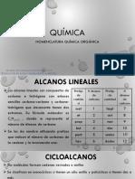Diapositivas 8. Nomenclatura Orgánica