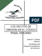 LOS DELITOS DE OMISIÓN EN EL CÓDIGO PENAL PERUANO