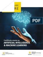 Certificate course on Artificial Intelligence & Machine Learning - PDF