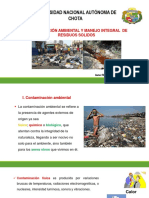 Tema 6. Contaminación Ambiental y Manejo de RR SS