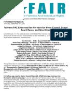 Fairness PAC Endorses Ken Herndon for Metro Council, School Board Races, More