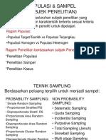 5. POPULASI & SAMPEL