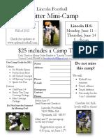 2012 Mini Camp Flyer