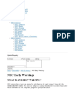 NEC Early Warnings - About NEC - NEC Contracts