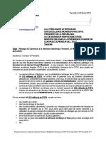 Passage du Cameroun à la télévision Numérique Terrestre, et Réhabilitation Technique de la CRTV, (Pièce N° 6, 07 pages)