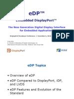 eDP (Embedded DisplayPort) Developer Conference