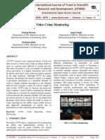 Video Crime Monitoring