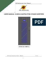 10KVA- 60KVA ETSB Off Grid ETS Series Tech Manual