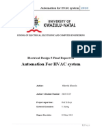 Automation for an HVAC System Final Report SC 206522329