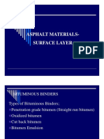 Asphalt Materials -Surface Layer