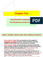 analytical chemistry (stoichiometry)