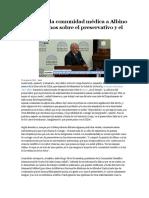 Críticas de La Comunidad Médica a Albino Por Sus Dichos Sobre El Preservativo y El SIDA