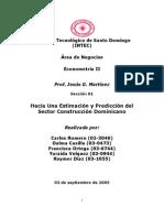 Est Imac Ion y Prediccion Del Sector Construccion en La Republica a