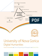 Digital Humanities MA study programme, University of Nova Gorica, Slovenia, 2018