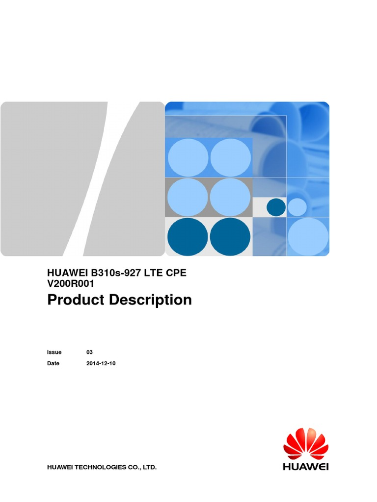 HUAWEI B310s-927 Product Description and manual   Lte