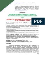 García-Concepción; Peinado; Et Al. (2015) - Eficacia de Diferentes Estrategias de Recuperación en Jugadores de Fútbol de Élite