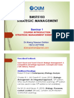 1A Introduction and Strategic Management Essentials