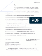 Format of Declaration From Beneficiary of Family Pension