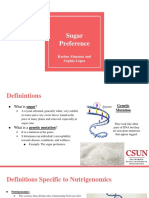 sugar preference- presentation