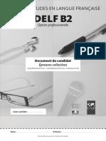 Livret Candidat Delf Pro b2
