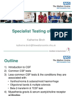 Katherine Birch Specialist Testing of Csf
