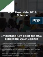 Maharashtra Board HSC Timetable 2019 Science