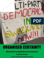 Organised Certainty Why Elections in Swaziland Are Not Democratic