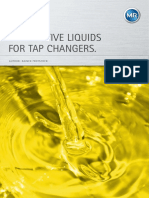 Alternative liquids for tap changers