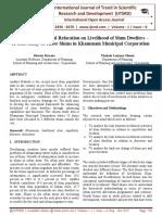"Impact of Residential Relocation on Livelihood of Slum Dwellers '"" A Case Study of Three Slums in Khammam Municipal Corporation"