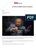 I Inherited a Government Riddled With Corruption, Dr M Tells CNN - Nation _ the Star Online