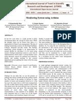 Garbage Monitoring System using Arduino