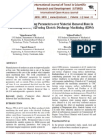 Effect of Contributing Parameters over Material Removal Rate in Machining Incoloy 825 using Electric Discharge Machining (EDM)