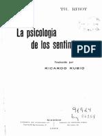 La Psicología de Los Sentimientos.