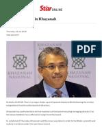 Major Shake-up in Khazanah - Business News _ the Star Online