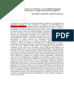 Comunicacion. La Inclusión Escolar y La Justicia Espanhol