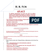 H.R.5136 National Defense Authorization Act for Fiscal Year 2011 Comparison