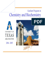 Graduate Programs in Chemistry and Biochemistry