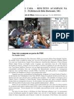 BRIGA POR CASA - Sem-Teto Acampam Na Porta Da PBH - Jornal Estado de Minas - 30 09 2010