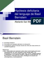 Hipotesis Deficitaria de Bernstein