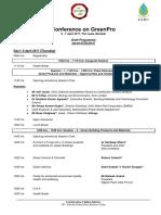 Draft Programme - Conference on GreenPro 2017