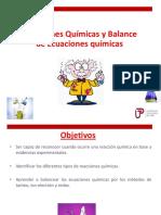 Tema 7. Tipos de Reacciones Químicas y Balance de Ecuaciones