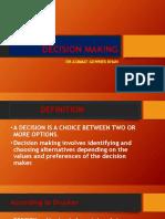 Decision Making Dr Azmmat