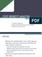 Cba (Cost benefit Analysis)