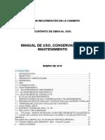 Manual Cubierta Uso y Mantenimiento
