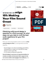 making your film sound great