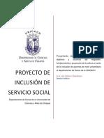 Formato de requisición para proyecto de servicio social