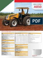 Tractor Valtra A850 Especificaciones