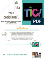 """""""El Uso de Las TIC en La Vida Cotidiana""""."""