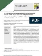 Caracterización de Ninos y Adolescentes Con Trastornos Del Espectro Autista