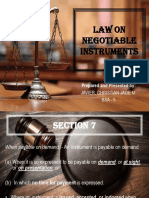 Law on Negotiable Instruments